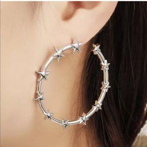 Circle of Stars Hoop Earrings